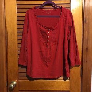 Laura Scott Red shirt. NWOT